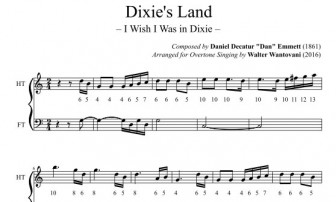 Partitura per Dixie's Land  (I Wish I Was in Dixie)