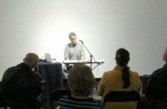 Stuart Hinds performance at Lawndale Art Center